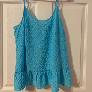 Lilly Pulitzer Coral Top Sky Blue Size Medium NWT